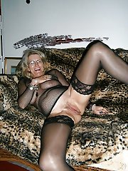 Explosive old milf playing alone